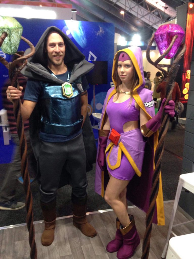 The Wizard and Enchantress in the flesh